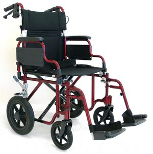 Deluxe Folding Transit Wheelchair