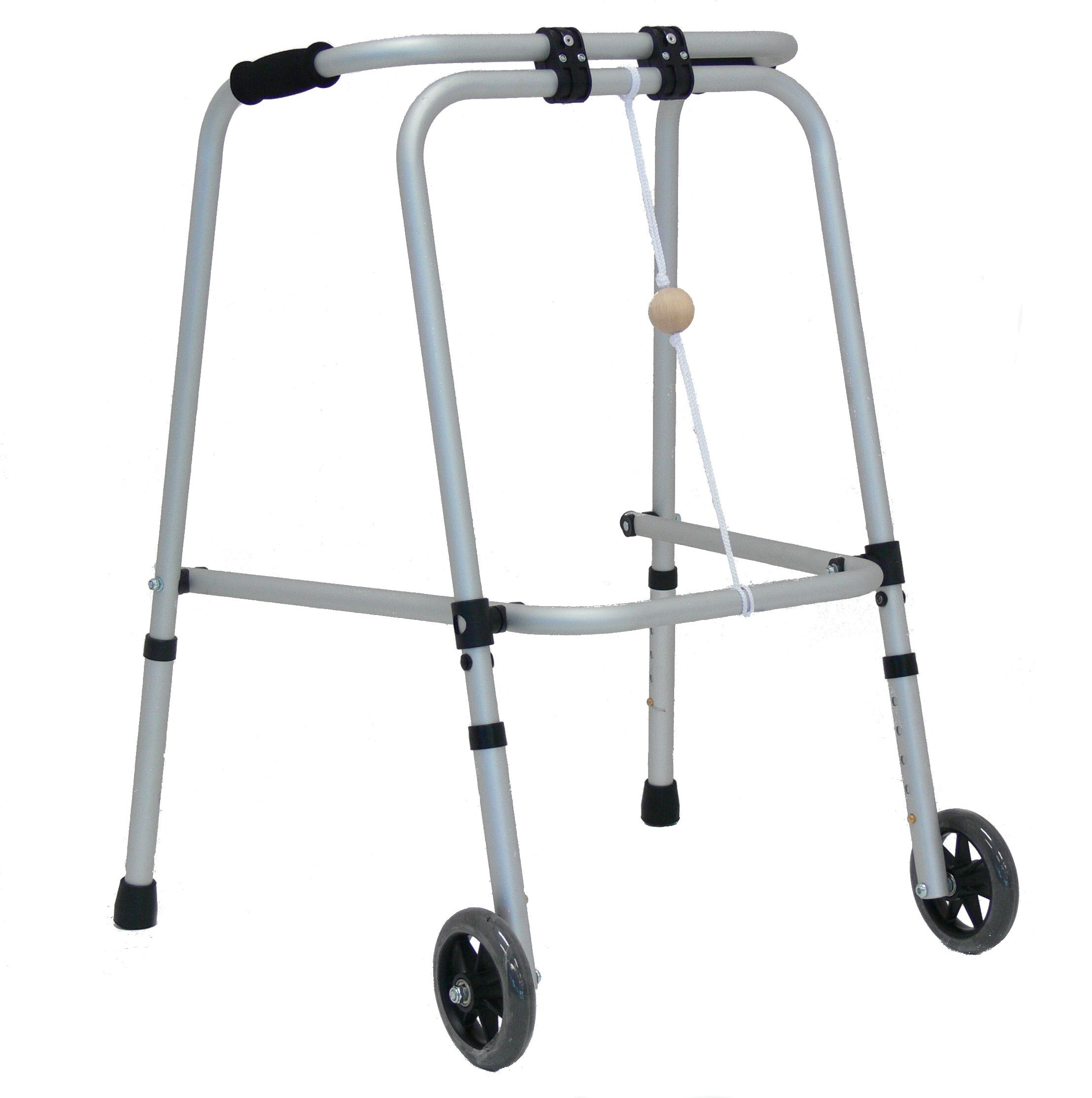 Aluminium Folding walking frame (With Wheels)
